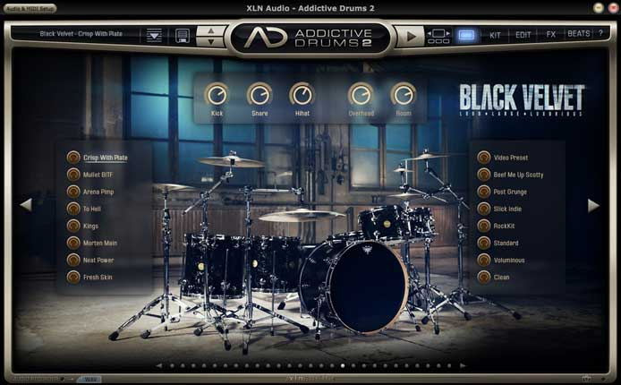 xln audio addictive drums 2 2 0 7 daw plugin. Black Bedroom Furniture Sets. Home Design Ideas