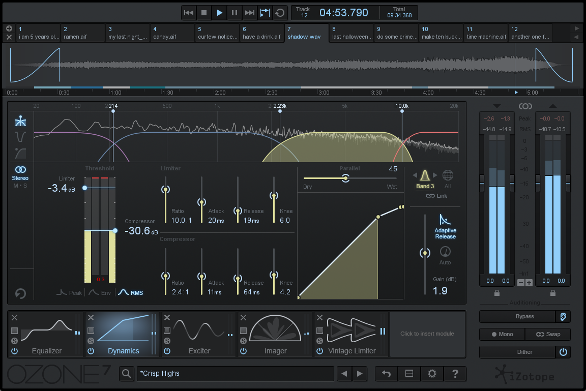 iZotope : Ozone 7 Advanced