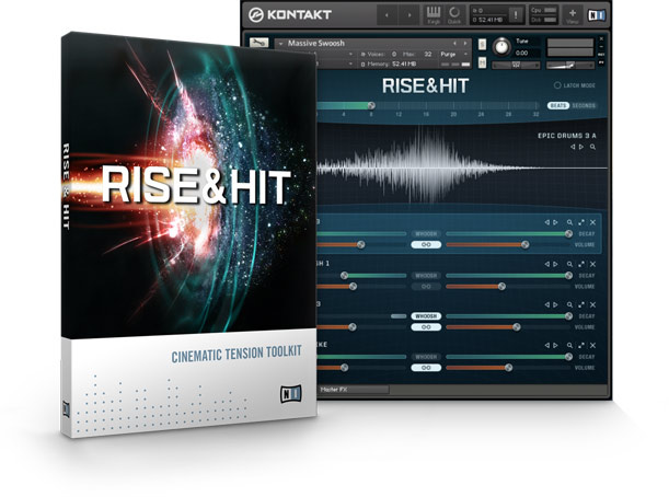 Native Instruments : Cinematic : Rise & Hit จำหน่ายโปรแกรมเสียงเอฟเฟกต์ประกอบหนัง