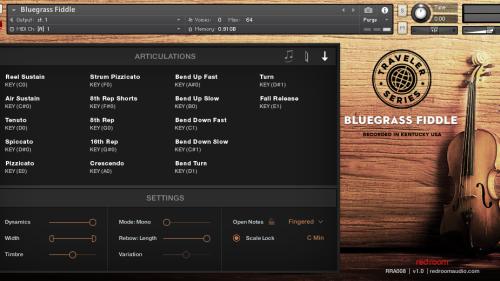 โปรแกรมจำลองเสียงไวโอลิน Traveler Series Bluegrass Fiddle โปรแกรมไวโอลินคันทรี